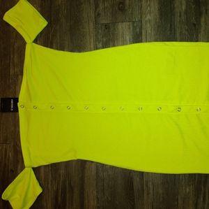 Neon yellow dress
